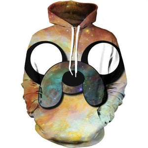 3D Space Galaxy Sweatshirts Men Women Hoodies With Hat Print Stars Nebula Autumn Winter Loose Thin Hooded Hoody Tops