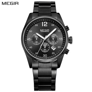 Military Quartz Watches Stainless Steel Business mens