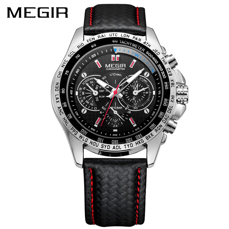 Quartz Men Watch Fashion Casual Black