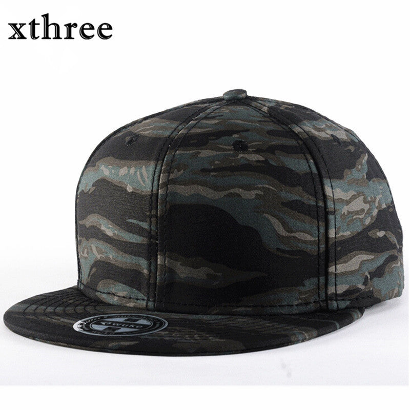 Xthree fashion camouflage Baseball Cap women men's snapback hip hop cap sway cap Summer fall Hat for men army cap