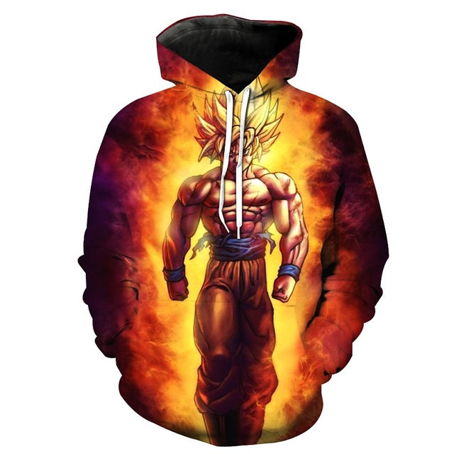 Anime Hoodie Dragon Ball Z Pocket Hooded Sweatshirts Kid Goku 3D Hoodies Pullovers Men Women Long Sleeve Outerwear New Hoodie