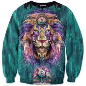 NEW Fashion sweatshirts men&women's lion pullover hoodie