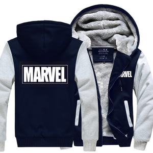 Marvels hoodie Captain America Hooded Thick Zipper Men Sweatshirts