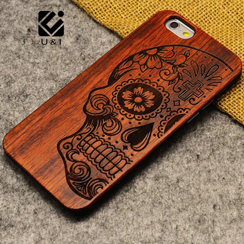 Natural U&I Brand New Wood Phone Case For iPhone 5 5S 6 6S 6Plus 7 7Plus