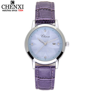 Luxury Brand Leather Strap Watch Ladies