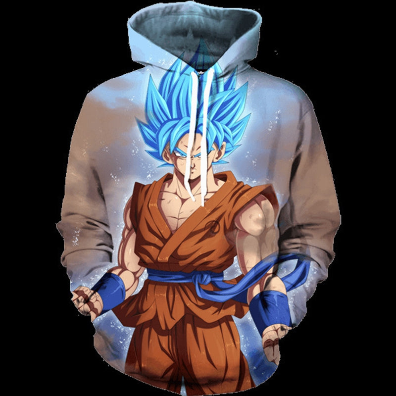 Dragon Ball Z Jacket Super Saiyan Sweatshirt Hoodies Pullovers