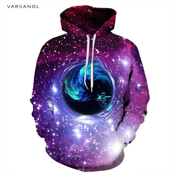 Varsanol Brand 3d Print Hoodies Mens Sweatshirt With Hat Long Sleeve Fashion Style Men/women's Sweatshirts Pullovers Hoodie