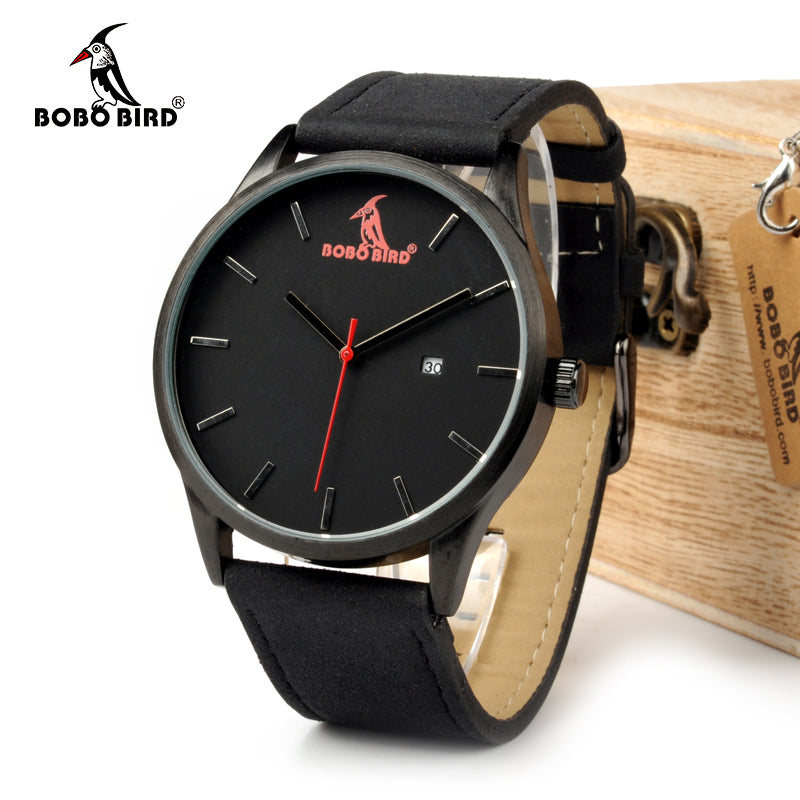Retro Round Wrist Watch Mens Watches Top Brand Luxury Watches With Calendar Display In Gift Box