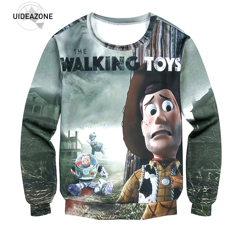 Anime Buzz and Cowboy: Walking TOYS Style Sweatshirt