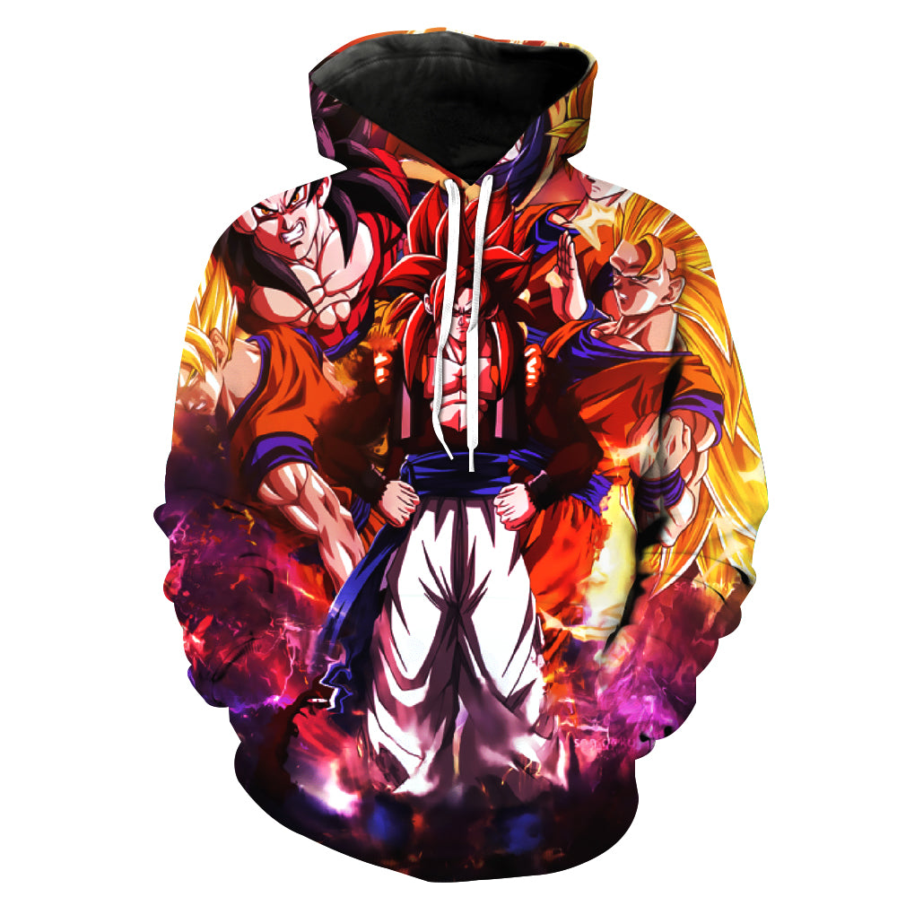Dragon Ball Z Hoodies 3d Hoodies Pullovers Men Hooded &sweatshirts Goku Hoode Dragon Ball Z
