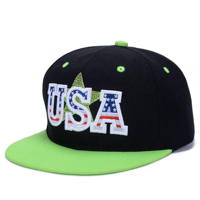 USA Embrodiery Hip Hop Mens Baseball Caps Snapback Hats For Men Women Fitted Snap Back Cap