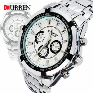 Curren Brand Fashion Men's Full stainless steel Military Casual Sport Watch