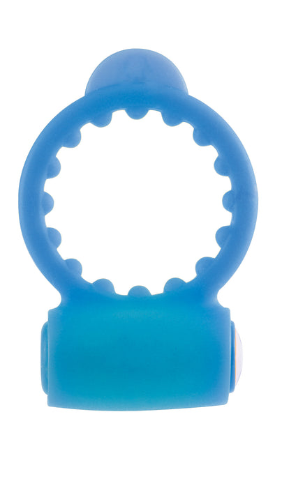 Neon Vibrating Cock Ring in Blue