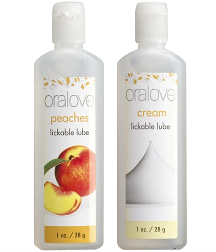 Oralove Delicious Duo Lickable Lubes in Peaches & Cream