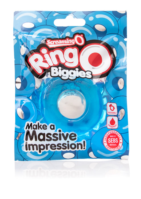 RingO Biggies Cock Ring in Blue