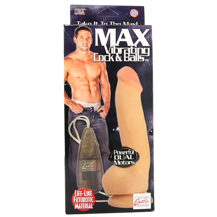 Max Vibrating Futurotic Cock and Balls