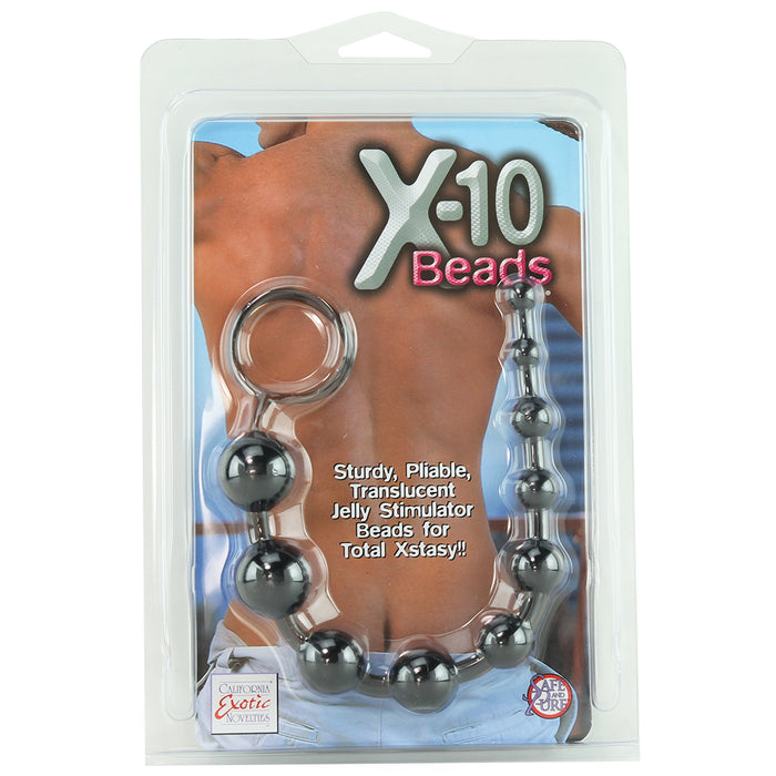 X-10 Anal Beads in Black