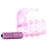 Stretchy Vibrating Bunny Enhancer in Pink