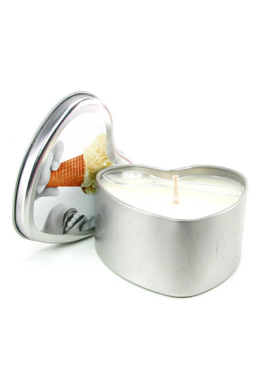 Edible Massage Oil Heart Candle 4.7oz/133g in Vanilla