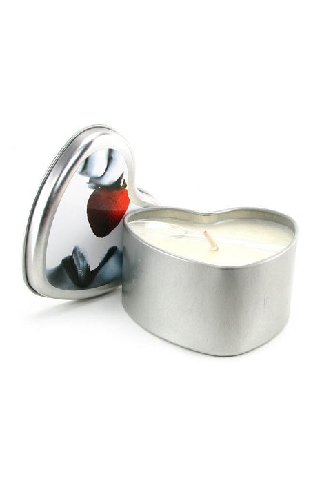 Edible Massage Oil Heart Candle 4.7oz/133g in Strawberry