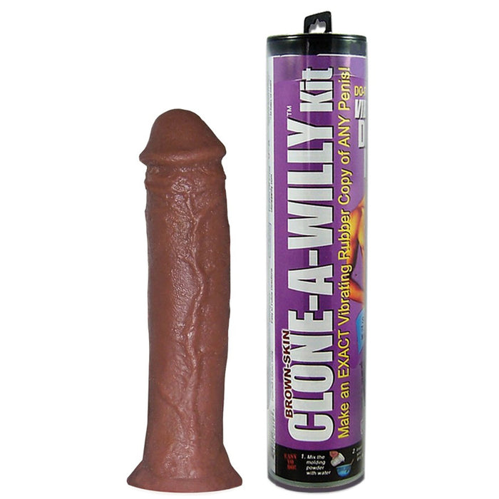 Clone-A-Willy Vibrator Kit in Deep Skin Tone