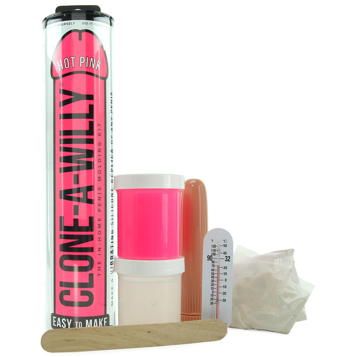 Clone-A-Willy Vibrator Kit in Hot Pink