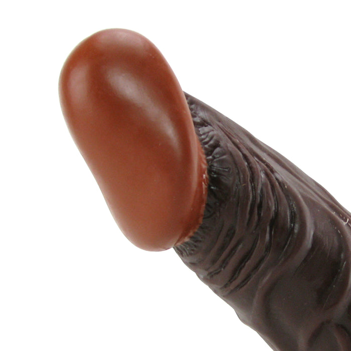 Real Skin Whoppers 8 Inch Dildo in Brown
