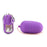 Power Mini Bullet Remote Vibrator in Purple
