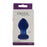 Crystal Premium Glass Small Butt Plug in Blue