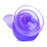 Basix 9 Inch Suction Cup Dildo in Purple