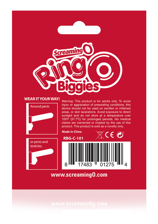 RingO Biggies Cock Ring in Clear