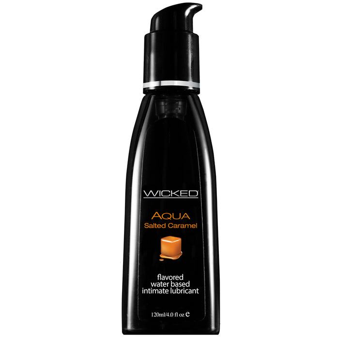 Aqua Salted Caramel Flavored Lube in 4oz/120ml