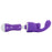 Mini Massager Set with 2 Attachments in Purple