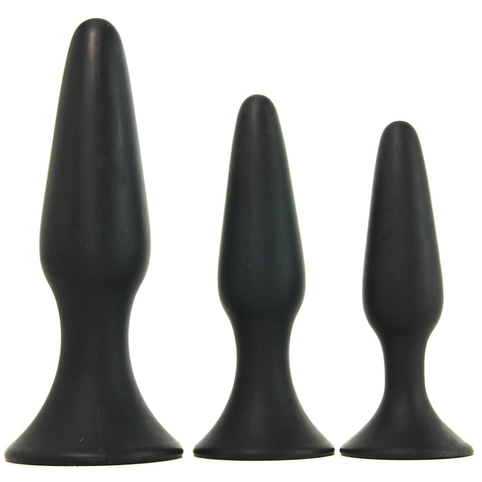 Silicone Anal Trainer Kit in Black