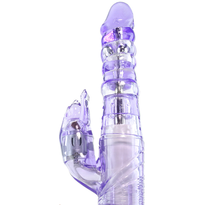 Purring Thrusting Panther Vibrator in Purple