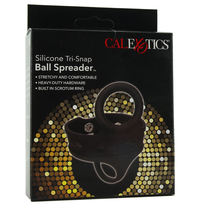 Silicone Tri-Snap Ball Spreader in Black
