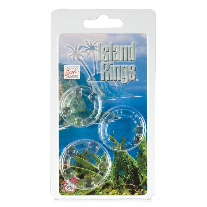 Island Rings in Clear