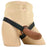 PPA Hollow Silicone Strap-On with Jock Strap in Brown