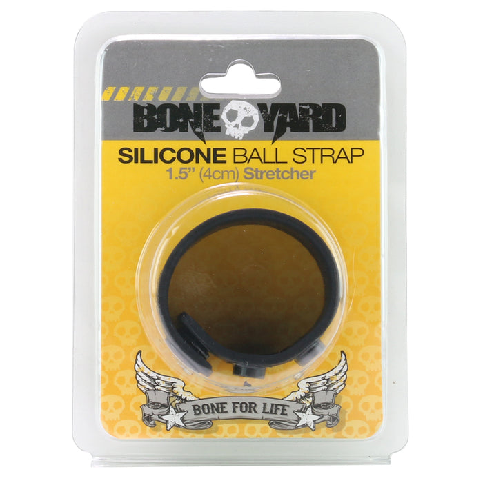 "1.5"" Silicone Ball Strap in Black"