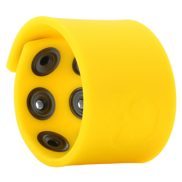 "1.5"" Silicone Ball Strap in Yellow"