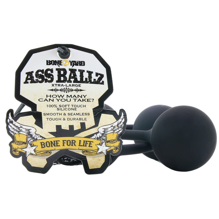 Soft Touch Silicone X-Large Ass Ballz in Black
