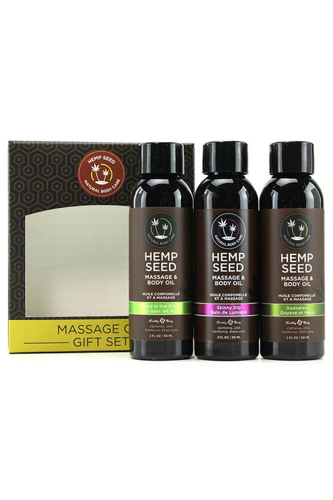 Hempseed Massage Oil Gift Set in 2oz/59mL x 3