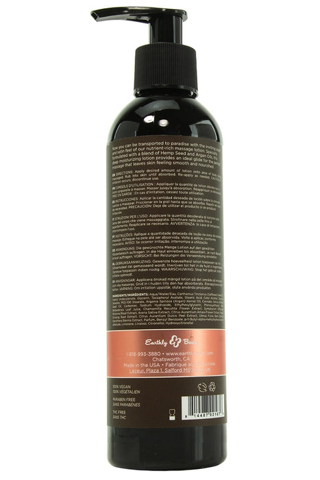 Hemp Seed Massage Lotion 8oz/237mL in Isle of You