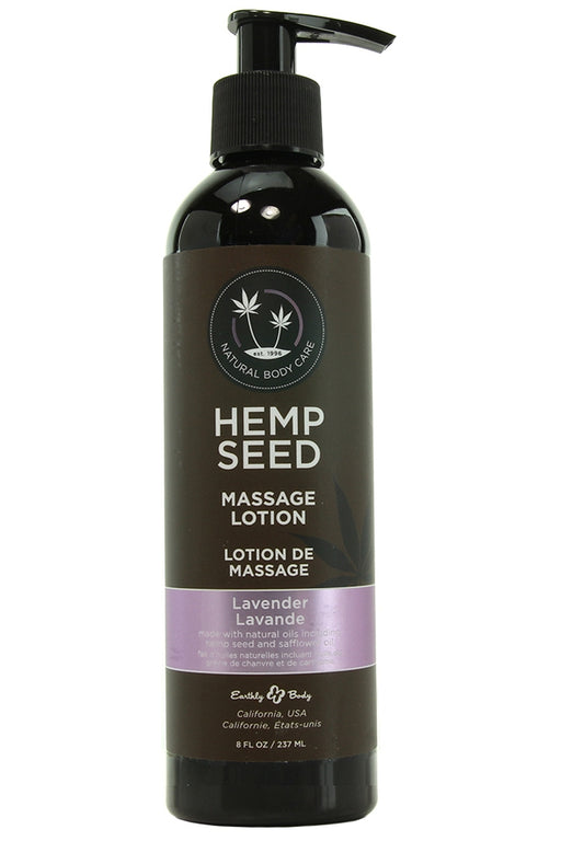 Lavender Hemp Seed Massage Lotion in 8oz/237mL