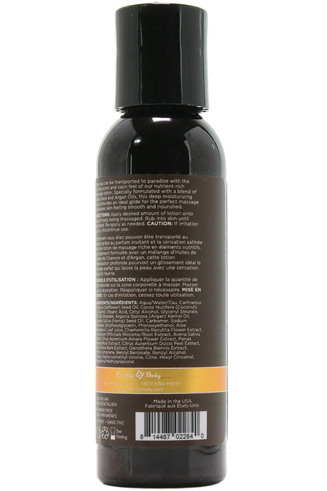 Dreamsicle Hemp Seed Massage Lotion in 2oz/60ml