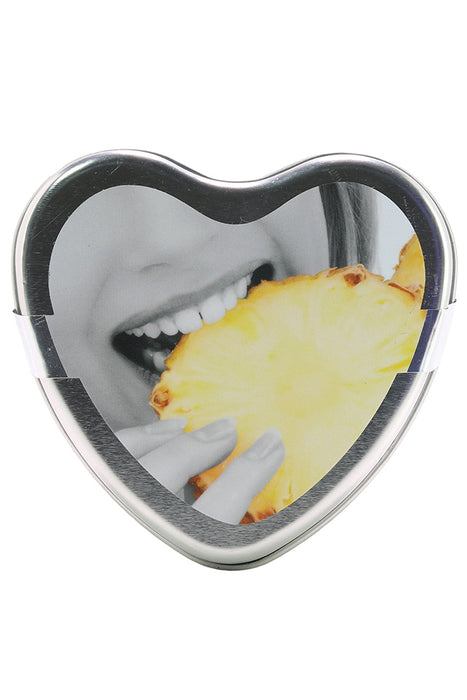 3-in-1 Edible Heart Candle 4oz/113g in Pineapple
