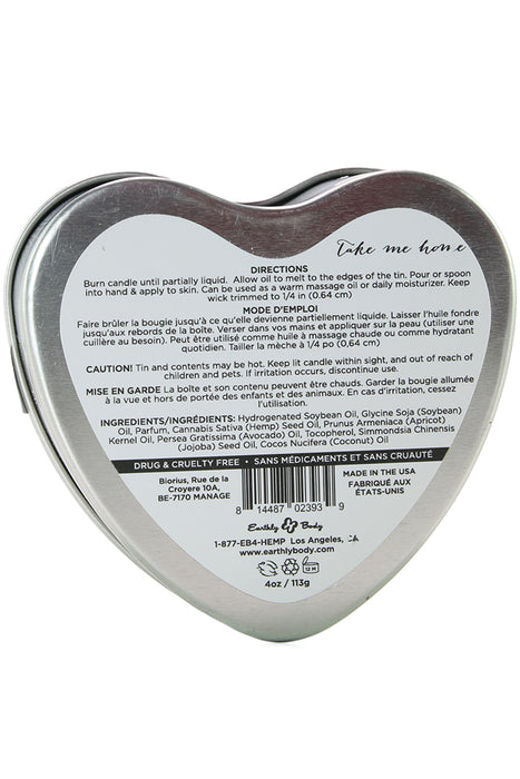 3-in-1 Massage Heart Candle 4oz/113g in Take Me Home
