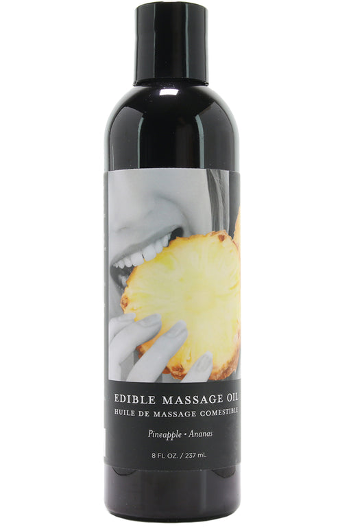 Edible Massage Oil 8oz/237ml in Pineapple