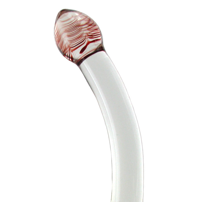 Red Head Double Glass Dildo