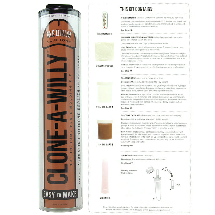 Clone-A-Willy Vibrating Kit in Medium